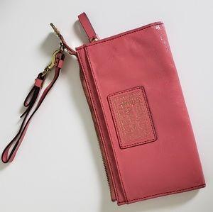 Coach Poppy Patent Leather Pink Wallet/Wristlet
